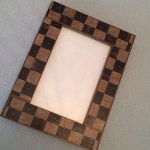 5x7 frame made w/ M/C tissue paper